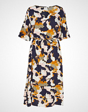 Junarose Jrjivas 2/4 Sl Midi Dress - K Knelang Kjole Multi/mønstret JUNAROSE