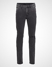 Cheap Monday Sonic Slash Black Slim Jeans Grå CHEAP MONDAY