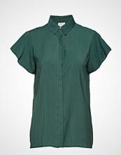Minus Summer Shirt Bluse Kortermet Grønn MINUS
