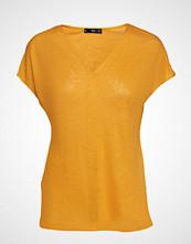 Mango Linen T-Shirt T-shirts & Tops Short-sleeved Gul MANGO