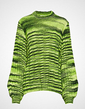 Ganni Neon Melange Knit Pullover Strikket Genser Grønn GANNI