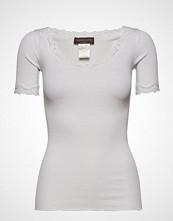 Rosemunde Silk T-Shirt Regular Ss W/ Rev,Vint T-shirts & Tops Short-sleeved Hvit ROSEMUNDE