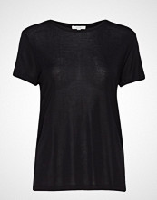 Dagmar Upama Rib Top T-shirts & Tops Short-sleeved Svart DAGMAR