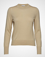 Filippa K Merino R-Neck Sweater Strikket Genser Beige FILIPPA K