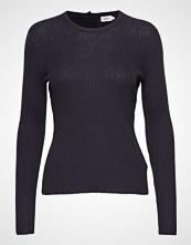 Filippa K Flat Rib R-Neck Sweater Strikket Genser Blå FILIPPA K