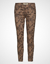 Mos Mosh Victoria Glam Flower Pant Skinny Jeans Brun MOS MOSH