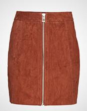 Vero Moda Vmsana Zip Suede Short Skirt Kort Skjørt Rød VERO MODA