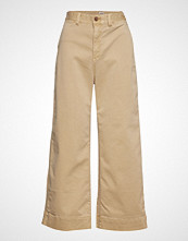GAP Wide Leg Chino Solid Vide Bukser Beige GAP