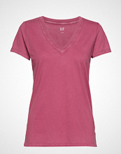 GAP Vintage Wash V-Neck T-Shirt T-shirts & Tops Short-sleeved Rosa GAP