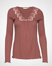 Odd Molly Rib-Eye Top T-shirts & Tops Long-sleeved Rosa ODD MOLLY