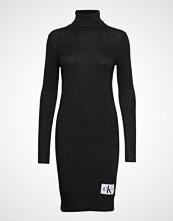 Calvin Klein Monogram Tn Sweater, Strikket Kjole Svart CALVIN KLEIN JEANS