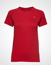 Asics Seamless Ss Texture T-shirts & Tops Short-sleeved Rød ASICS