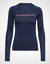 Tommy Sport Knit Base Layer Tee T-shirts & Tops Long-sleeved Blå TOMMY SPORT