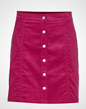 Calvin Klein Mini Corduroy Button Kort Skjørt Rosa Calvin Klein Jeans