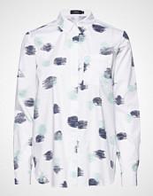 Nanso Ladies Shirt, Kastanja Langermet Skjorte Hvit NANSO