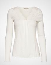 Odd Molly Rib-Eye Top T-shirts & Tops Long-sleeved Creme ODD MOLLY