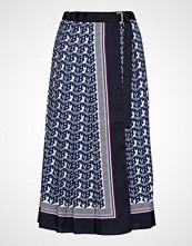 Hilfiger Collection Hcw Monogram Skirt, Knelangt Skjørt Blå HILFIGER COLLECTION