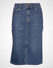 Lexington Clothing Millie Denim Skirt Knelangt Skjørt Blå LEXINGTON CLOTHING
