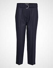 Gerry Weber Edition Crop Leisure Trouser Bukser Med Rette Ben Blå GERRY WEBER EDITION