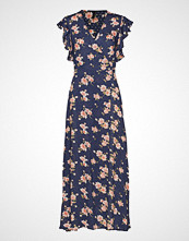 Yas Yasmalla Ankle Dress Maxikjole Festkjole Blå YAS