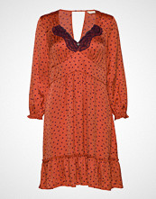 Odd Molly Hello New Love Dress Knelang Kjole Oransje ODD MOLLY