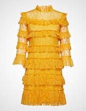 By Malina Carmine Mini Dress Kort Kjole Gul BY MALINA