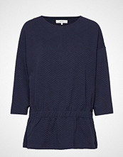Soyaconcept Sc-Siham Jacquard T-shirts & Tops Long-sleeved Blå SOYACONCEPT