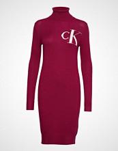 Calvin Klein Monogram Tn Sweater, Strikket Kjole Rød CALVIN KLEIN JEANS