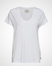 Lexington Clothing Becka V-Neck Tee T-shirts & Tops Short-sleeved Hvit LEXINGTON CLOTHING