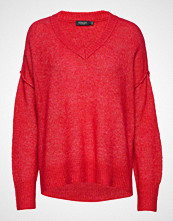 Soaked in Luxury Sl Angel V-Neck Pullover Ls Strikket Genser Rød Soaked In Luxury