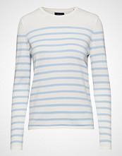 Gant Breton Stripe Crew T-shirts & Tops Long-sleeved Hvit GANT