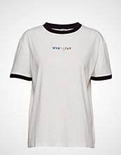 Wrangler Boyfriend Tee T-shirts & Tops Short-sleeved Hvit WRANGLER