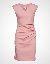 Kaffe India V-Neck Dress Knelang Kjole Rosa KAFFE