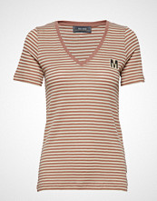 Mos Mosh Alisha V-Neck Tee Ss T-shirts & Tops Short-sleeved Brun MOS MOSH