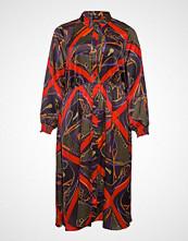 Zizzi Xscarf, Medi Dress Knelang Kjole Multi/mønstret ZIZZI