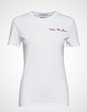 Calvin Klein Inst Chain Stitch Sl T-shirts & Tops Short-sleeved Hvit Calvin Klein Jeans