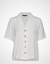 Only Onlnova Lux Solid Button Trough Shirt 4 Bluse Kortermet Hvit ONLY