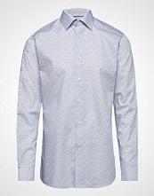 Eton Blue Paisley Print Shirt Skjorte Uformell Blå ETON