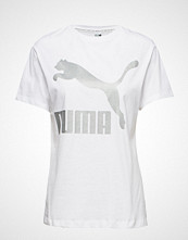 Puma Classics Logo Tee T-shirts & Tops Short-sleeved Hvit PUMA