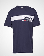 Tommy Jeans Tjm Essential Box Lo T-shirts Short-sleeved Blå TOMMY JEANS