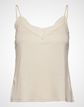 Mango Lace Top T-shirts & Tops Sleeveless Creme MANGO