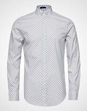Gant O2. Micro Sport Print Slim Bd Skjorte Business Hvit GANT