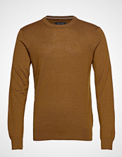 Casual Friday Pullover O-Neck Strikkegenser M. Rund Krage Brun CASUAL FRIDAY
