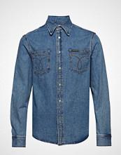 Calvin Klein Long Sleeve Utility Omega Shirt Skjorte Uformell Blå CALVIN KLEIN JEANS