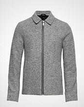Junk de Luxe Boiled Wool Zip Through Jacket Strikkegenser Cardigan Grå JUNK De LUXE