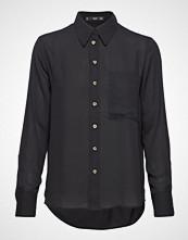 Mango Pocket Flowy Shirt Langermet Skjorte Svart Mango