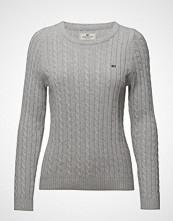 Lexington Clothing Felizia Cable Sweater Strikket Genser Grå LEXINGTON CLOTHING