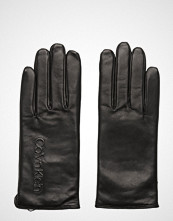 Calvin Klein Deboss Logo Leather, Hansker Svart Calvin Klein