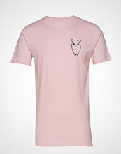 Knowledge Cotton Apparel T-Shirt With Owl Chest Logo - Gots T-shirts Short-sleeved Rosa Knowledge Cotton Apparel
