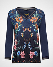 Desigual Ts Nez T-shirts & Tops Long-sleeved Blå Desigual